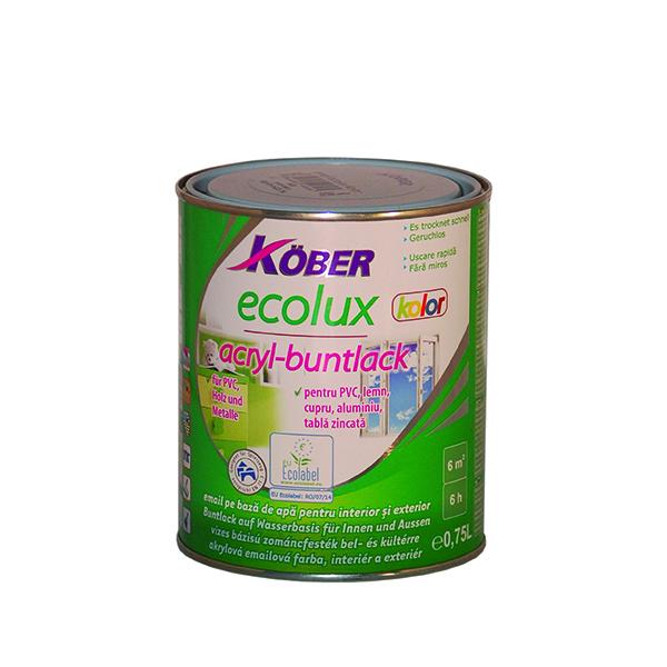 Цветен емайл лак на водна основа ECOLUX KOLOR