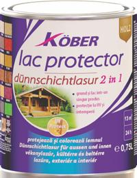 Лак защитен Kober за дърво 2в1 0.750