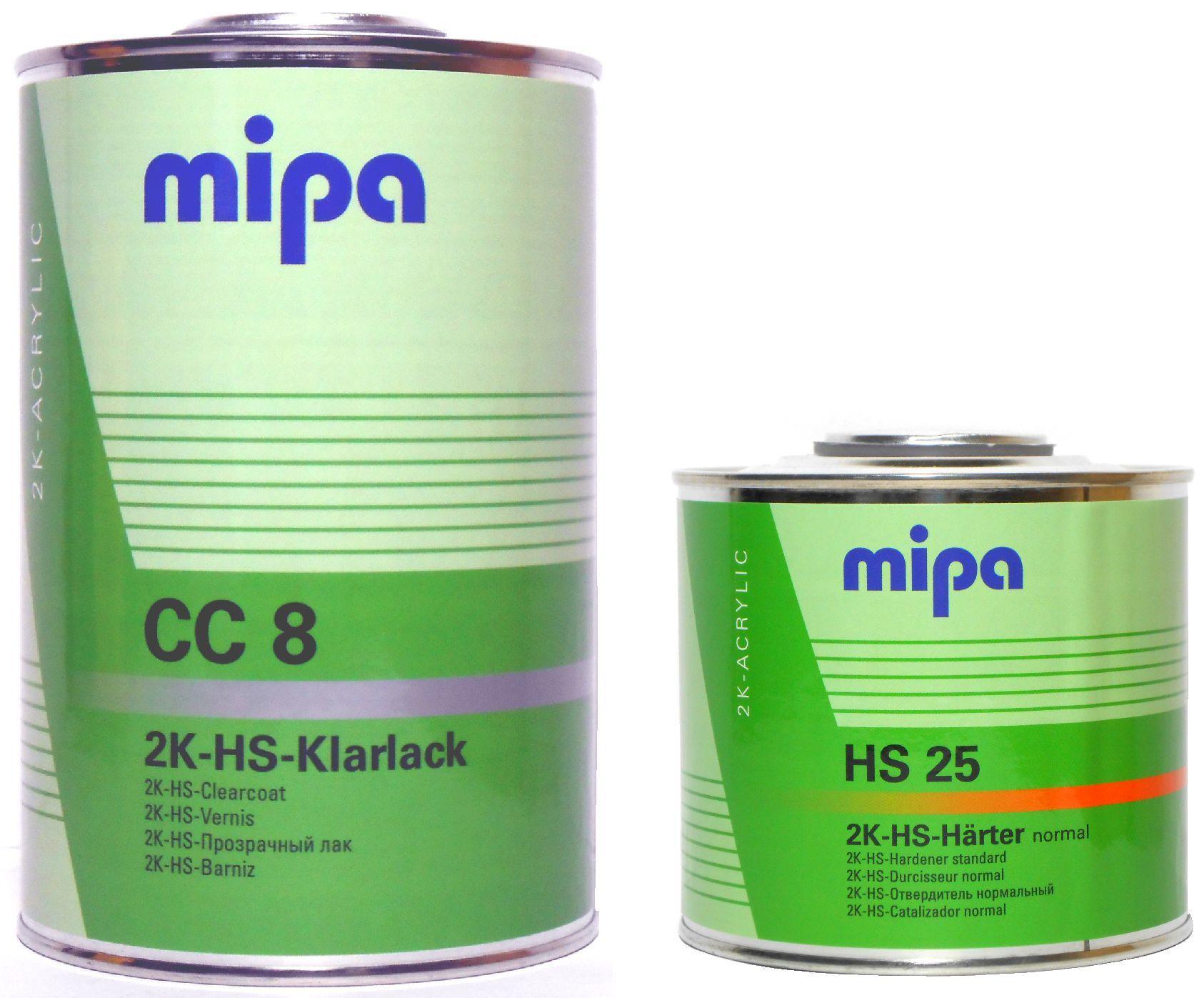 Лак Mipa CC8 1l компл с втв HS 0,5